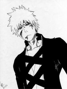 Kurosaki Ichigo (after his fight with Ginjo? Bleach Tattoo, Bleach Art, Bleach Manga, Cute Anime Pics, I Love Anime, Me Me Me Anime, Bleach Ichigo Bankai, Anime Rules, Lonely Girl