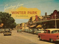 Postcard. I love Winter Park as it is, but I kinda wish it still looked like this.