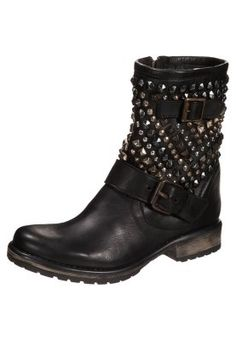 MARCOO - Cowboy-/ Bikerstiefeletten - black Caroline Blomst, Halle Berry, Steve Madden, Biker, Boots, Black, Fashion, Crotch Boots, Moda