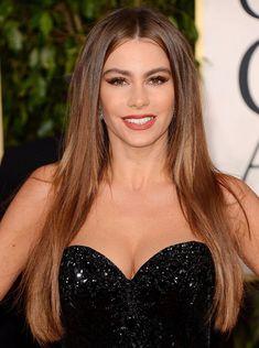 Sofia Vergara at the 2013 Golden Globes 1/13/2013. Hair by Jen Atkin. Makeup by Kayleen McAdams.