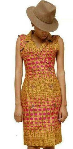 Wax fabrics - Robe tissu wax ~African Prints, See More Styles… African Print Dresses, African Fashion Dresses, African Attire, African Wear, African Women, African Dress, African Prints, African Style, African Safari
