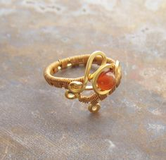 Handcrafted WIre Wrap Copper Ring in Copper by studiodct on Etsy