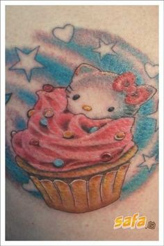 hello kitty cupcake tattoo - my two faves!