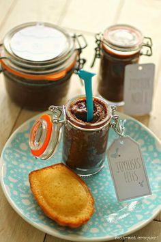 Cadeau gourmand de Noël ★ Pâte à tartiner chocolat-praliné - Fais moi croquer !