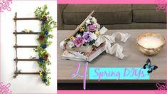 Spring DIY Ideas Fáciles y Económicas  Para Decorar Tu Hogar En Primavera Ideas Fáciles, Ladder Decor, Diy Home Decor, Shabby Chic, Spring, Youtube, Vintage, Gardens, Autumn Home