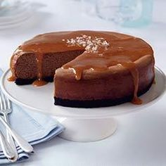 Salted Caramel Chocolate Cheesecake - made this twice and it's always a hit