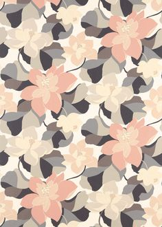 Diva Pebble/Graphite/Jasmine (120280) - Scion Fabrics - A large scale trailing floral fabric design featuring stylised magnolia blossoms. Shown here in pebble, graphite and jasmine. Other colourways are available. Please request a sample for a true colour and texture match.