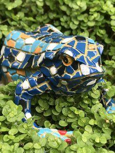 Our fun & bright Blue Mosaic Frog Garden Ornament Animal Garden Ornaments, Blue Mosaic, Animal Design, Traditional Design, Garden Inspiration, Baby Car Seats, Garden Design, Create Your Own, Decor Ideas