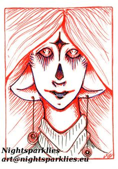 Original ACEO Star Sent Alien by Nightsparklies on Etsy, $7.00 #aceo #originalaceo #tinyart #miniatureart #miniature #originalart #art #fantasy #fantasyart #mystical #elf #fairy