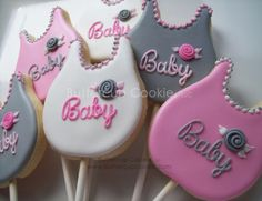 Baby Bib Cookie Pops | Cookie Connection