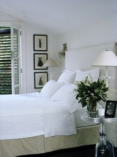 I love the shutters. And the white duvet.