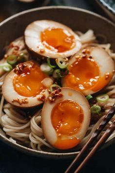 Egg Recipes, Gluten Free Recipes, Asian Recipes, Ethnic Recipes, Ramen Recipes, Soy Sauce Eggs, Soy Eggs, Organic Eggs, Organic Baby