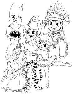 Karneval Ausmalbilder Kostüme Kinder Ideen #children #print #carnival