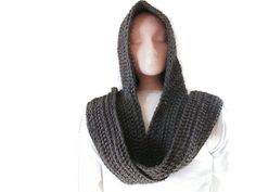 Hooded Scarf Scoodie  Grey for Men and by UniquelyYourDesigns, £30.00