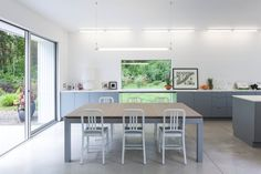 Andrew Schroeder selected the New York architecture firm Leven Betts to design a modern home for his parents.