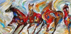 Brand new whimsical equine fine art by Karen