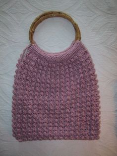 Pink Bubble Patterned Crochet Bag by CarolBeckDesigns on Etsy, $85.00