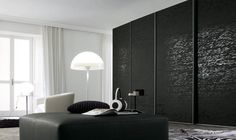 Black bedroom cabinets and white style modern walk wardrobe closet with mirror wardrobes small c Sliding Wardrobe Designs, Walk In Wardrobe Design, Sliding Wardrobe Doors, Sliding Doors, Wardrobe Furniture, Black Bedroom Furniture, Bedroom Wardrobe, Wardrobe Closet, Box Bedroom