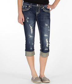 Miss Me Embroidered Stretch Cropped Jean-so cute on!!!! Ill be wearing these WAAAAY too much!