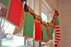 Sack lunch advent calendar invented by Summer Harms. Brilliant to get kids excited about that brown bag lunch