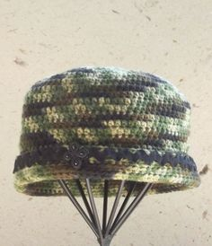 Crochet Womans Hat    Handmade      Camouflage by SophiesHats, $25.00