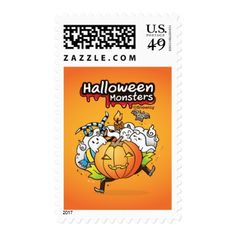 Halloween monsters Postage - Halloween happyhalloween festival party holiday
