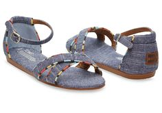 Chambray Women's Correa Sandals | TOMS