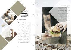 Mise en page géométrique / graphisme culinaire.