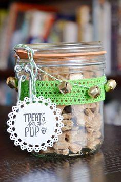 manualidades creativas para perros - un envase muy mono para conservar las chuches