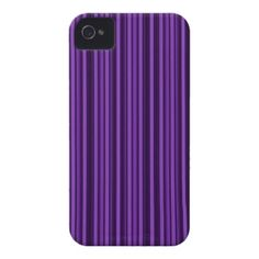 Purple Double Stripes iPhone 4 Case