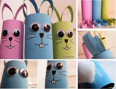 Toilet Paper Roll Bunny Tutorial