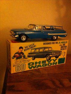 AMT Craftsman Jr 60 Chevy Wagon Vintage Models, Old Models, Lowrider Model Cars, Model Cars Building, Plastic Model Cars, Model Hobbies, Model Cars Kits, Vintage Tins, Toy Trucks