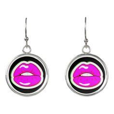 Kiss Me (Black) Earrings