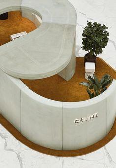 Céline popup store, China – Al Jawad Pike Retail Interior Design, Lobby Interior, Retail Store Design, Retail Shop, Interior Architecture, Commercial Design, Commercial Interiors, Bunker, Celine