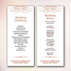 DIY Wedding Program Template Instant Download by CheapoBride ...