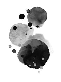 Image of BLACK COAL Abstract Watercolor Art, Abstract Wall Art, Watercolor Paintings, Tinta India, To Do App, Black And White Painting, Elements Of Art, Art Drawings, Canvas Art
