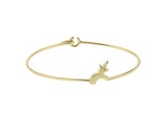 The solid gold Unicorn bangle sending the message 'Believe in You'.