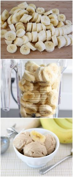 Two-Ingredient Banana Peanut Butter Ice Cream Recipe on twopeasandtheirpod.com Love this easy and healthy treat!