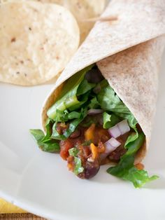 Crockpot Vegetarian Tacos - with Black Beans and Sweet Potatoes | infinebalance.com recipe