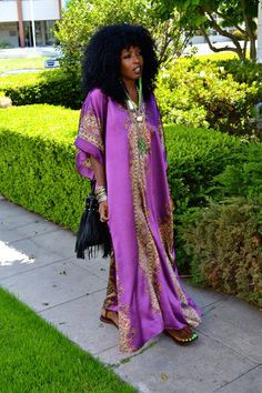 "Magenta Vintage Caftan Dresses | ""Purple Rain - Prince!"" by ..."