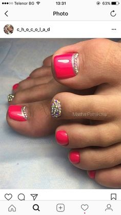 How to Make Nails Grow Faster & Stronger – Most Effective Remedies Pedicure Designs, Pedicure Nail Art, Simple Nail Art Designs, Toe Nail Designs, Toe Nail Art, Nail Manicure, Pedicure Ideas, Nail Polish, Pretty Toe Nails