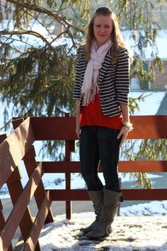Work it: striped blazer