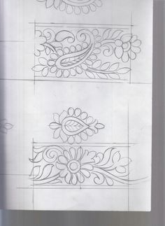Pin by baldev gevariya on design sketches Embroidery Motifs, Embroidery Transfers, Learn Embroidery, Machine Embroidery Patterns, Hand Embroidery Designs, Floral Embroidery, Beaded Embroidery, Zentangle, Pencil Design