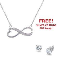 Sterling Silver Cubic Zirconia Fancy Infinity Necklace - John Stewart Jewellers