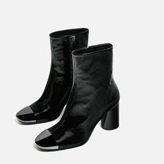 HIGH HEEL LEATHER ANKLE BOOTS WITH METALLIC TOE-Ankle boots-SHOES-WOMAN | ZARA United States