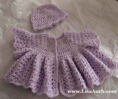Free Easy crochet Patterns for Baby Cardigans and Baby Crochet sweater pattern or layette Sets. Nothing is as cute as baby wearing a beautiful...