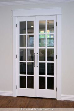 Replace ugly bifold doors with painted pantry doors or french