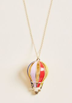 Haute Air Balloon Ride Pendant Necklace Cute Necklace, Drop Necklace, Pendant Necklace, Air Balloon Rides, Craft Day, Modcloth, Amazing Women, Vintage Inspired, Cool Style
