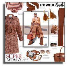 """GIRL POWER: Power Look"" by eula-eldridge-tolliver ❤ liked on Polyvore featuring Prada, Madewell, Lizzie Fortunato, Chloé, Maybelline and Effy Jewelry"