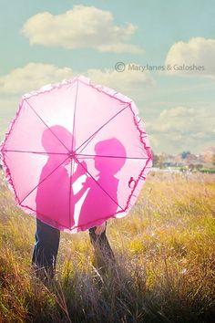 fun idea, umbrellas, rain photography ideas, famili photographi, silhouettes